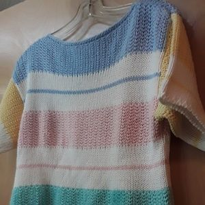 Pastel Color Striped Sweater Catalina Sz M